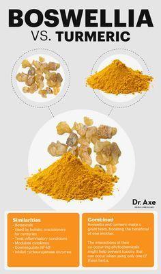Boswellia vs. turmeric - Dr. Axe http://www.draxe.com #health #Holistic #natural