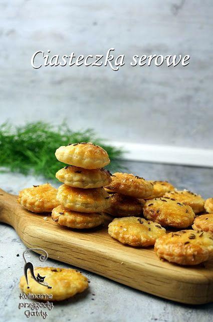 Kulinarne przygody Gatity - przepisy pełne smaku: Serowe ciasteczka wytrawne