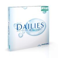 Focus Dailies Toric daily replacement contacts for astigmatism correction. For wearers of toric lenses, Focus Dailies Toric contacts are ideal for those with active lifestyles who want the convenience of a lens that requires no cleaning or maintenance. Daily lenses also remove the need for solution and storage cases and result in lenses with no deposit build-up.