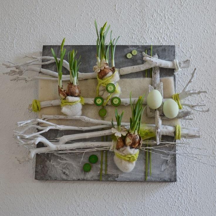 Plantaardig schilderij - Pasen