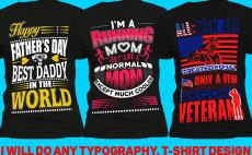 do eye catching typography and teespring tshirt design