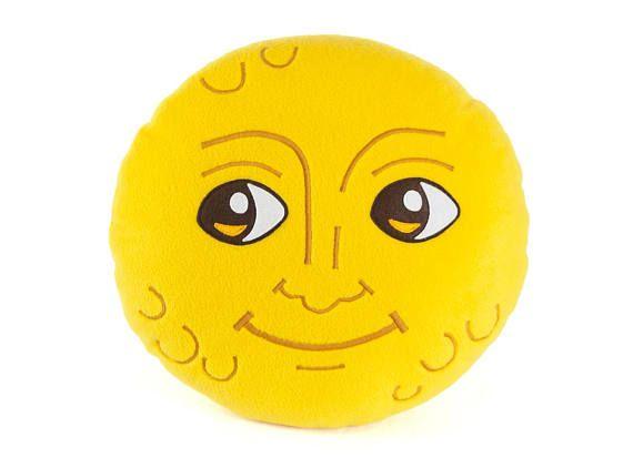 New Moon Face Pillow Creepy Moon Cushion Dark Moon Emoji Etsy In 2020 Face Pillow Emoji Gifts Emoji Pillows