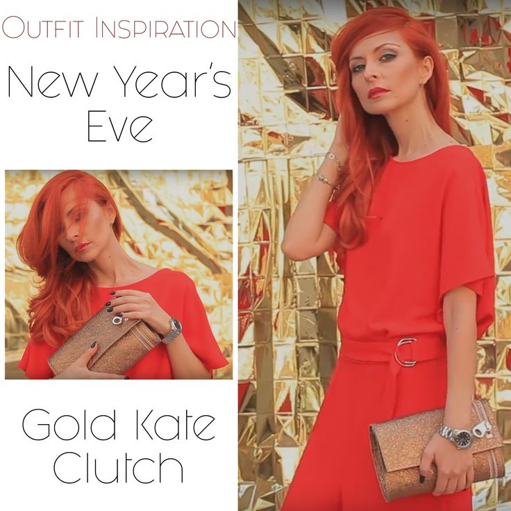 A golden clutch can easily match your chic NYE attire @w