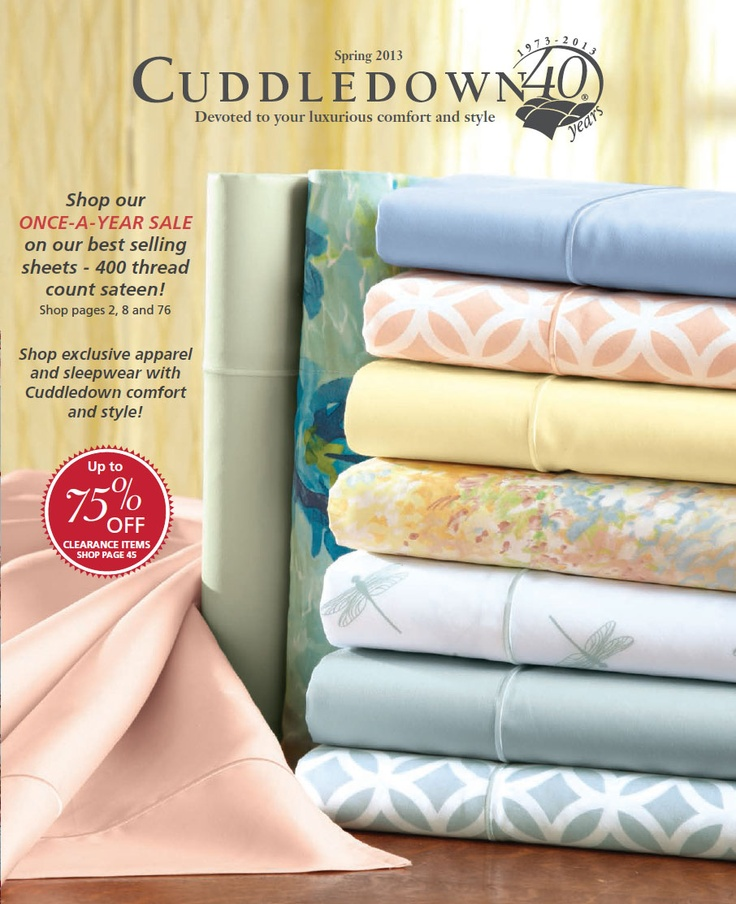 Spring 2013 Version B Cuddledown Catalog Covers