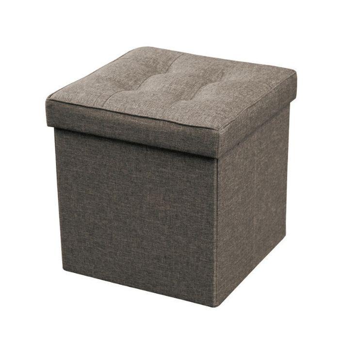 Opvouwbare Opbergbox / Poef Textiel - Nu met korting bij Lesara