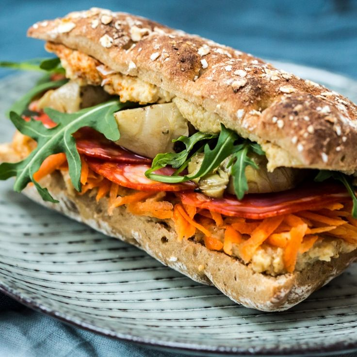 Sandwich med chorizo