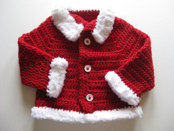 67 best crochet cardigan baby images on pinterest baby knitting crochet baby sweater jacket cardigan coat christmas by locusttree 3600 fandeluxe Gallery