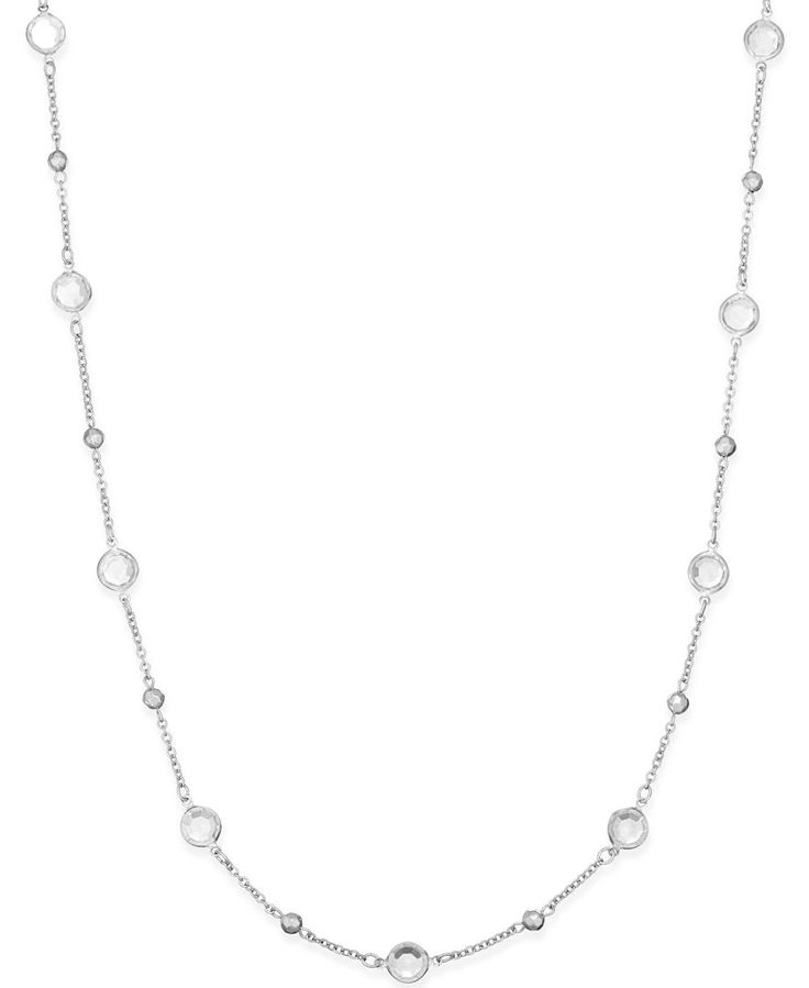 Alfani Silver-Tone Embellished Long Length Necklace, Only at Macy's