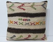 cream kilim pillow 24x24 euro pillow cover large kilim pillow 24x24 pillow cover 60x60 pillow cover big throw pillow large pillow case 22396
