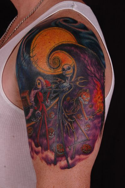 118 best images about nightmare before christmas tattoos for Jack the pumpkin king tattoo