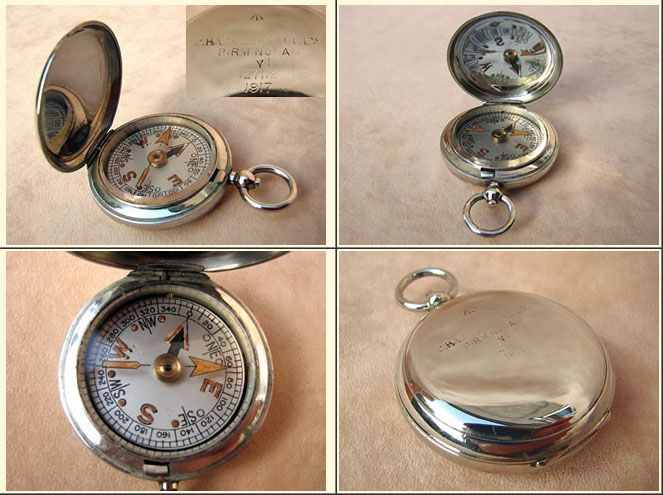 """Vintage / Antique Compass ~ gift ideas for men ~ """"British Army WW1 Officers pocket watch style compass"""""""