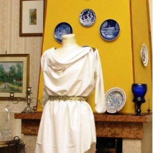 Abito Storico ABITI STORICI ANTICA GRECIA ROMA - VESTITO STORICO FEMMINILE ART GR 02 - realizzato su misura a mano