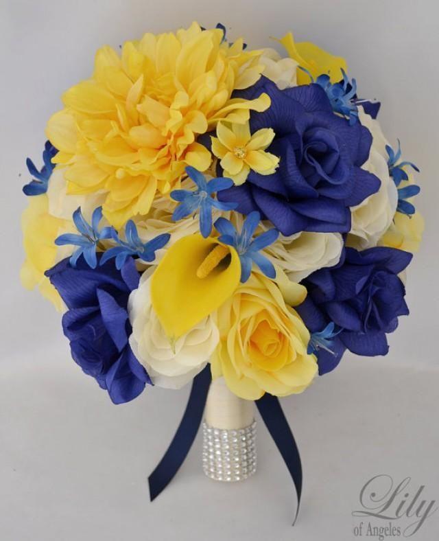Model: YEBL01 Brides round bouquet (10 round) Yellow ...
