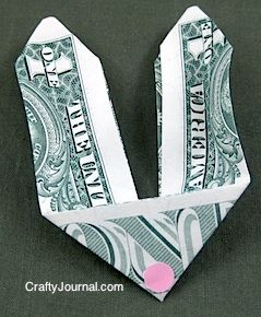 Fold some delightful bunny money for dollar bill o…