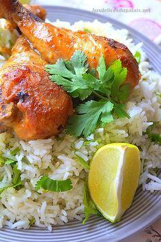 Poulet sauce soja miel & riz basmati à la coriandre Un plat savoureux et…