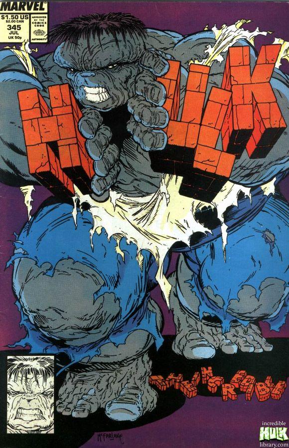 Clássica fase cinza. Hulk - Todd McFarlane