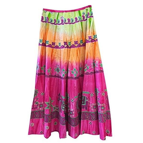 Mogul Interior Maxi skirts Hippie Rayon Pink Printed Tiered A--line... ($31) ❤ liked on Polyvore featuring skirts, purple maxi skirt, a-line skirt, long hippie skirts, long a line skirt and maxi skirt