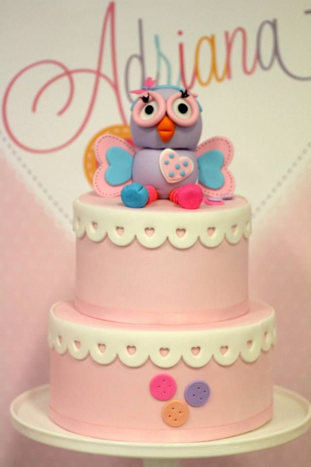 FOR OWL THEME PARTY: Red Wagon Events- Hootabelle cake by Cake-a-lishious