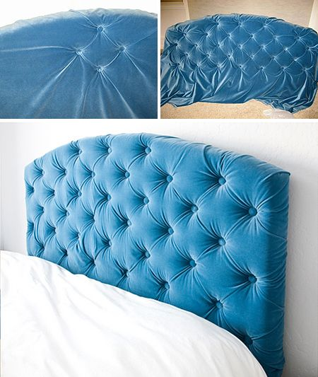 Romantic Bedroom Projects • Try these decorating projects and tutorials to up the romance, like this DIY tufted headboard project by 'Schue Love'!