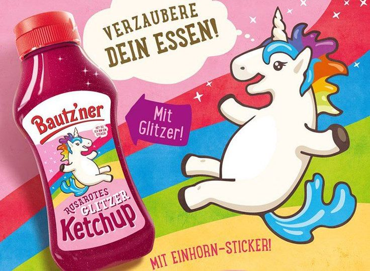 Glittering Ketchup Condiments - German Mustard Producer Bautz'ner is Releasing a Unicorn Ketchup (GALLERY)