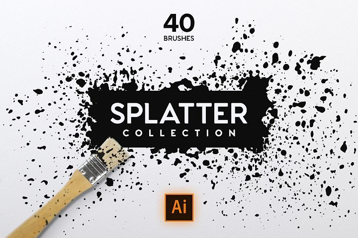 Splatter Brush Collection Traditional Paint Color Picker