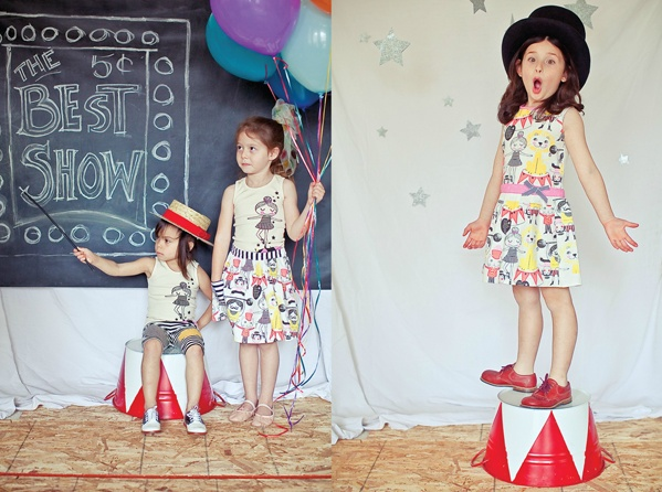 Circus shoot. Clothes by Misha Lulu #kids #photo #photography #idea #ideas