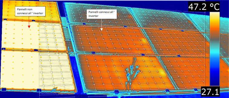 Termografia: Pannelli fotovoltaici sconnessi