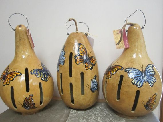Gourd Butterfly House  I've made butterfly houses before and they are fun and can be easy, depends on how you want to do it