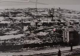 ...What was left of Halifax harbor after the biggest man-made explosion befor the A-bomb....
