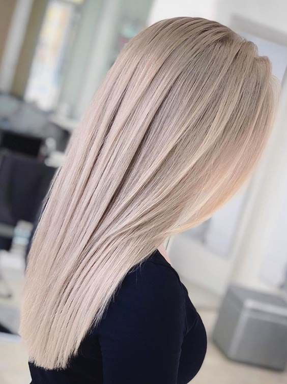 20 Adorable Ash Blonde Long Sleek Hairstyles to Show Off in 2018