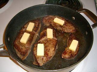 Steak: its a beautiful thing - this is how my oma used to cook beef on top of the stove, mmmm butter ;)