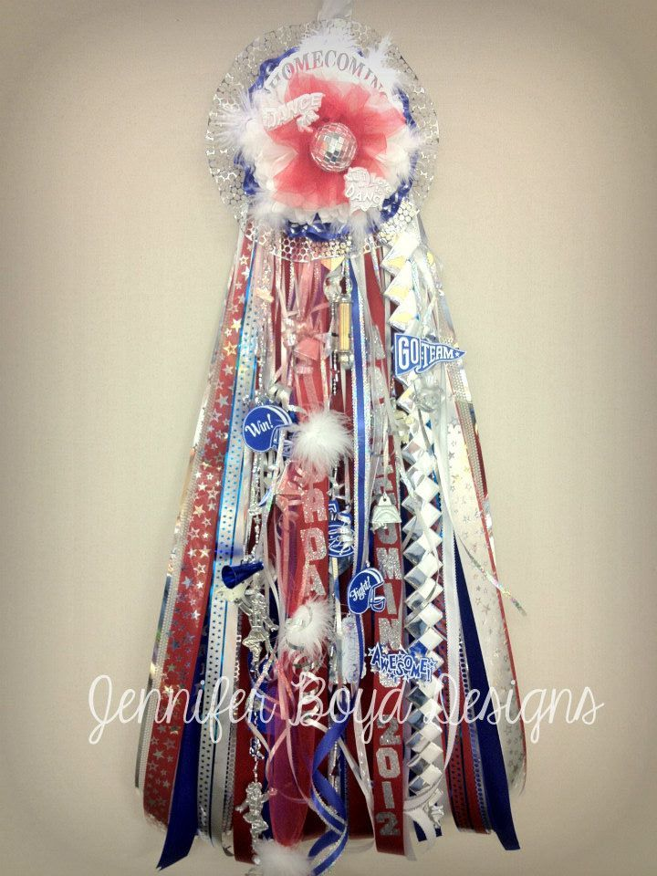 Homecoming mums blue and white dress