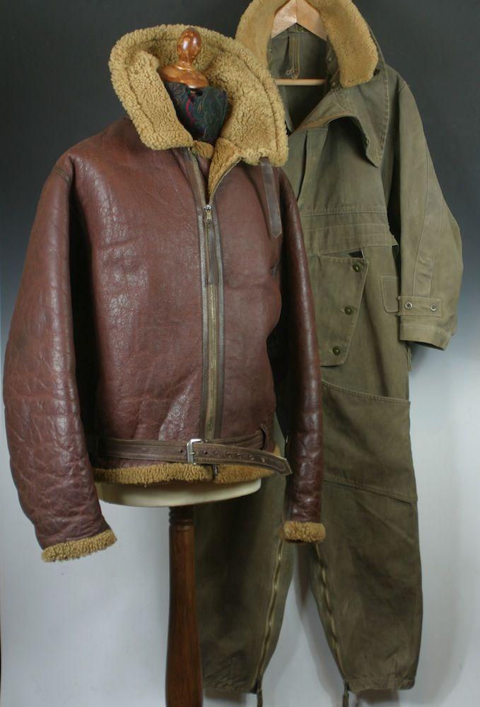 Wellington Bomber Gunner Irvin Flying Jacket & Sidcot Flying Suit.
