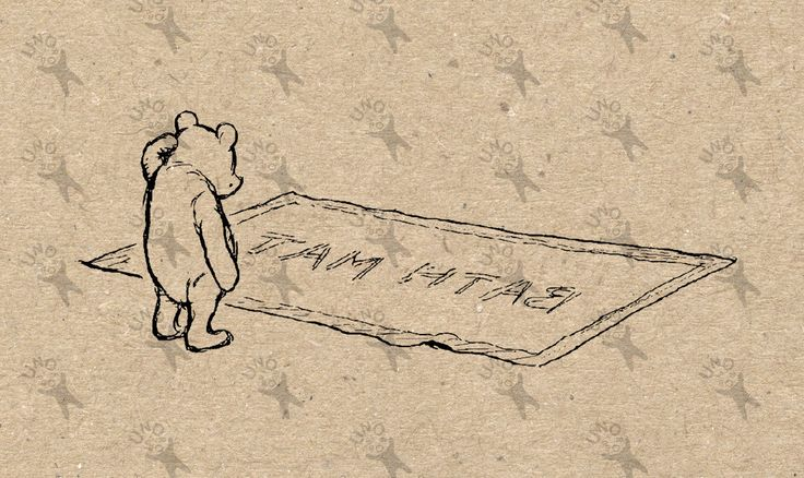 Winnie the Pooh Instant Download Digital printable vintage clipart  graphic for stickers, scrapbooking,  home decor,  prints etc HQ 300dpi by UnoPrint on Etsy
