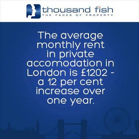 Already high rent in London continues to rise.