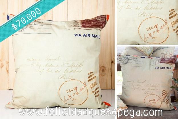 """Cojín """"Carta Vintage"""" de nuestra nueva colección"""