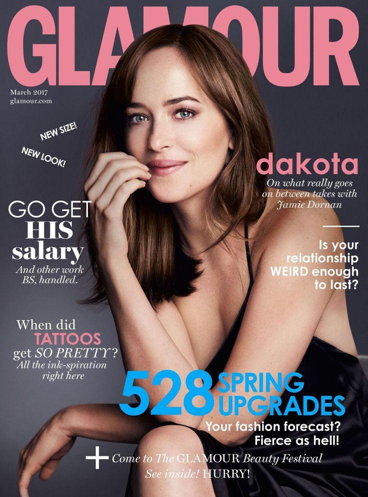 Dakota Johnson  #DakotaJohnson Glamour Magazine UK March 2017 Cover and Photo Celebstills D Dakota Johnson