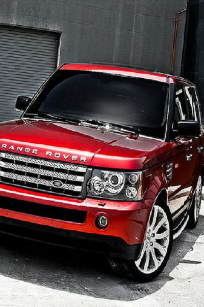#red Range Rover, this has always been my dream car!! But in white of course!! I love this car!!