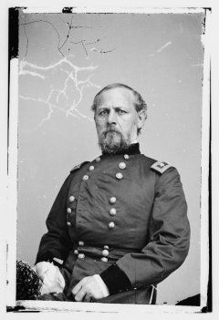 Many historians have argued that Grant's beaten army was saved only by the timely arrival of Maj. Gen. Don Carlos Buell's Army of the Ohio near sundown on April 6. The common conception is that Grant's men had been driven back to the landing and were about to be defeated when the lead elements of Buell's army arrived, deployed in line and repelled the last Confederate assaults of the day.