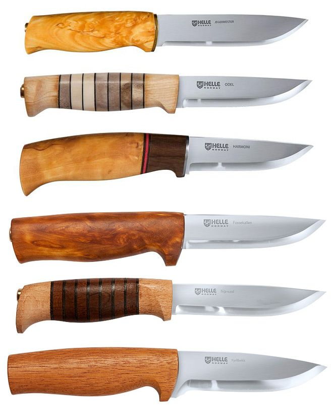 helle knives beautiful wood handles