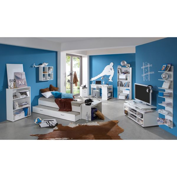 Felix White Childrens Study/Bedroom Furniture Set   http://www.furnitureinfashion.net/felix-white-childrens-studybedroom-furniture-p-17498.html