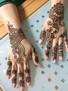 Simple Arabic Mehndi Designs & Mehndi Designs Step by Step