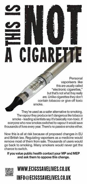 #ecigs  Don't be fooled!  I've been through their studies and although lesser toxins than cigarettes, e-cigs are still dangerous. Ask for proof that no nicotine is produced in lungs when e-cigs are smoked. May be you won't find one.