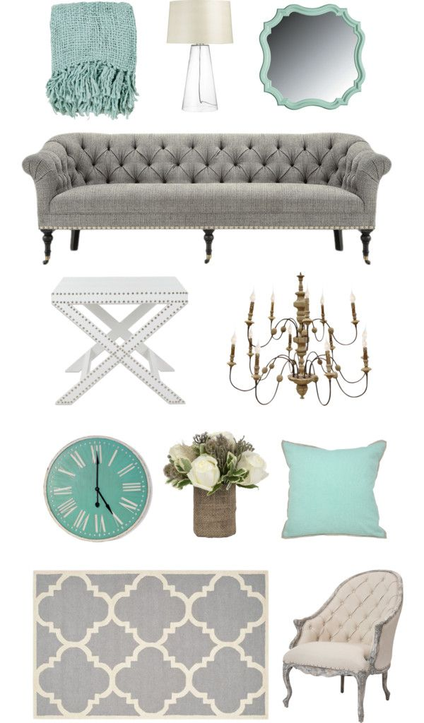 Home design inspiration - Teal & Grey Design Board, for my first apartment possible color scheme