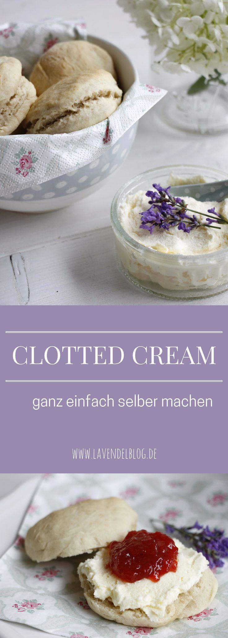 Clotted Cream selber machen könnt ihr mit diesem einfachen Clotted Cream Rezept. Die Clotted Cream Zubereitung braucht zwar etwas Zeit, dafür ist sie echt britisch und schmeckt zu selbstgebackene Scones köstlich. Viel Spaß bei eurem Devon Cream Tea.