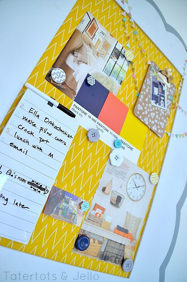 Make a fabric covered magnetic inspiration board riley for Cork board inspiration
