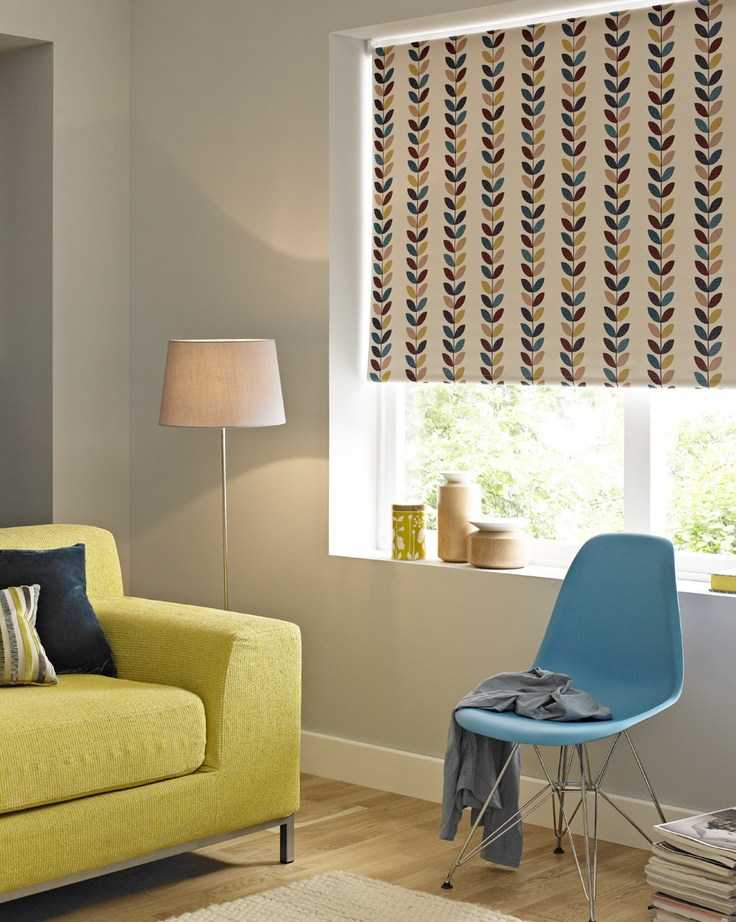 Leaf Print Blackout Roller Blind