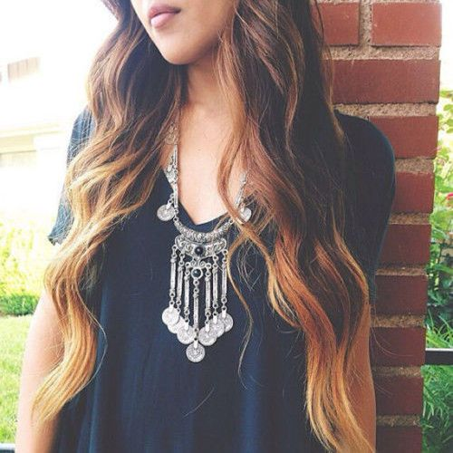 Pop-Gypsy-Ethnic-Tribal-Turkish-Boho-Coin-Long-Chain-Gem-Necklace-Tassel-Pendant