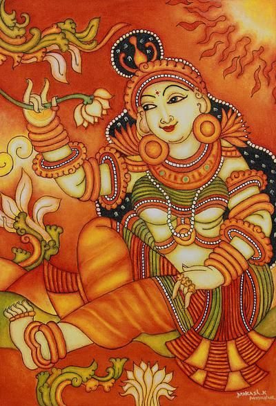 412 best mural painting images on pinterest hindus for Mural painting designs