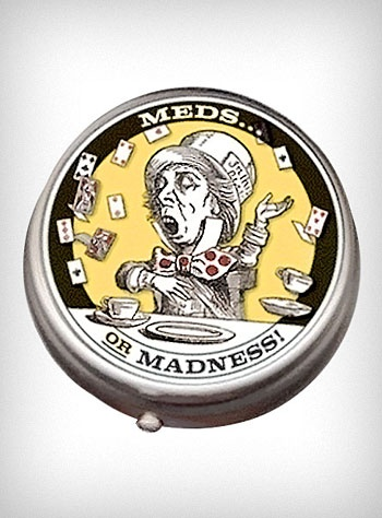 Meds or Madness... that is the question. Because there's no question that this pill box rocks.